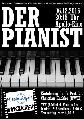 HistoriAquis Hingucker 2016 Der Pianist Apollo Kino Seniorat Geschichte